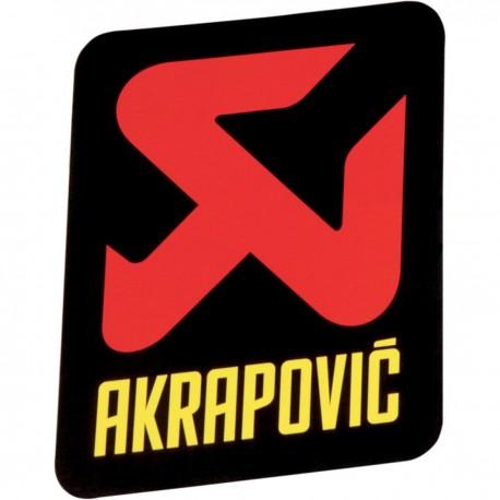 AKRAPOVIC EXHAUST LOGO  90x75 mm