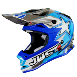 Casco Just1 J32 Moto X Azul (Adulto y Junior)