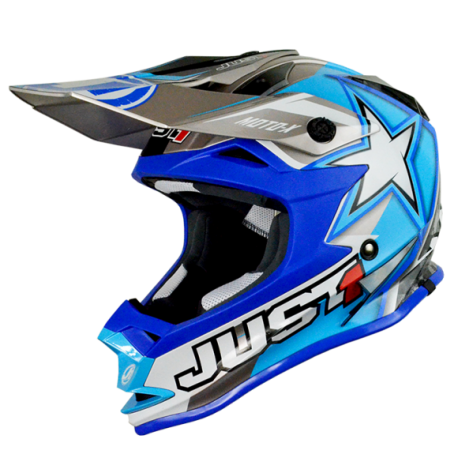 Casco Just1 J32 Moto X Azul (Adulto y Junior)