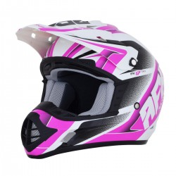 Casco AFX - FX-17 FORCE Pearl White/Fuchsia