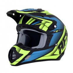 Casco AFX - FX-17 FORCE Matte Black/Green/Blue
