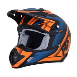 Casco AFX - FX-17 FORCE Matte Black/Orange/Blue