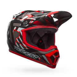 Casco BELL MX-9 MIPS EQUIPPED Tagger Double Trouble Negro/Rojo