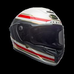 Casco BELL RACER STAR FLEX RSD Gloss/Matte Blanco/Rojo/Carbon FORMULA