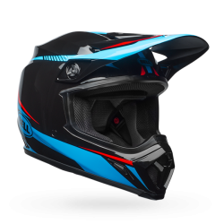Casco BELL MX-9 MIPS EQUIPPED Torch Gloss Negro/Azul/Rojo