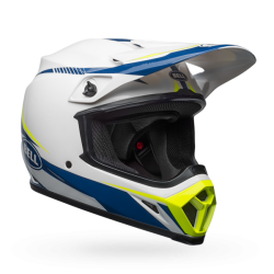 Casco BELL MX-9 MIPS EQUIPPED Torch Gloss Blanco/Azul/Amarillo
