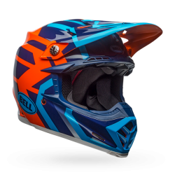 Casco BELL MX-9 MIPS EQUIPPED Distric Gloss Azul/Naranja