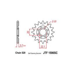 Piñon JT 1590SC autolimpiable de acero