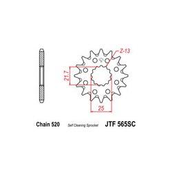 Piñon JT 565SC autolimpiable de acero
